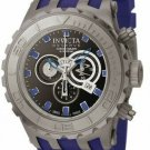 INVICTA SPECIALTY SUBAQUA QUARTZ TITANIUM SANDBLAST CASE W/BLUE TONE RUBBER BAND
