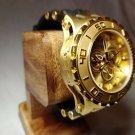 INVICTA SUBAQUA SPECIALTY MENS QUARTZ 52MM GOLD CASE STAINLESS STEEL DIAL