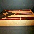 "Elie Bleu Stars & Stripes "" Cigars Flag ""  Humidor 110 Count"