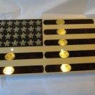"Elie Bleu Stars & Stripes "" Flag with Cigar Humidor 110 Count"