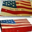 Elie Bleu Stars & Stripes  Cigar Humidor 110 Count