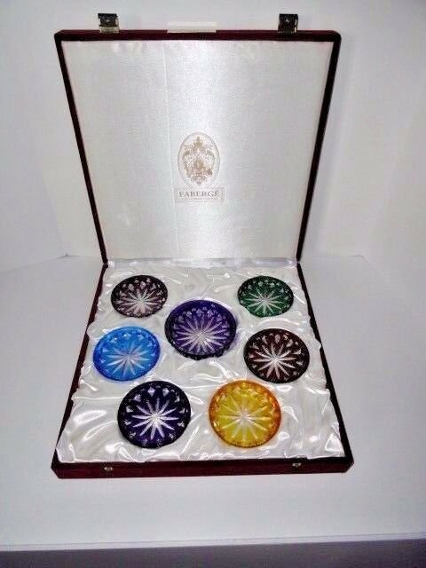 Faberge Crystal Colored Coasters