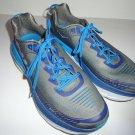 """HOKA ONE ONE Bondi 5 Men's Athletic Shoes  Grey / Blue 13"""" M Size"""