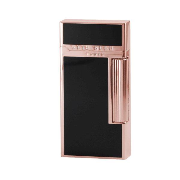 Elie Bleu Pocket Lighter Wide Rose Gold & Black Japanese lacquer