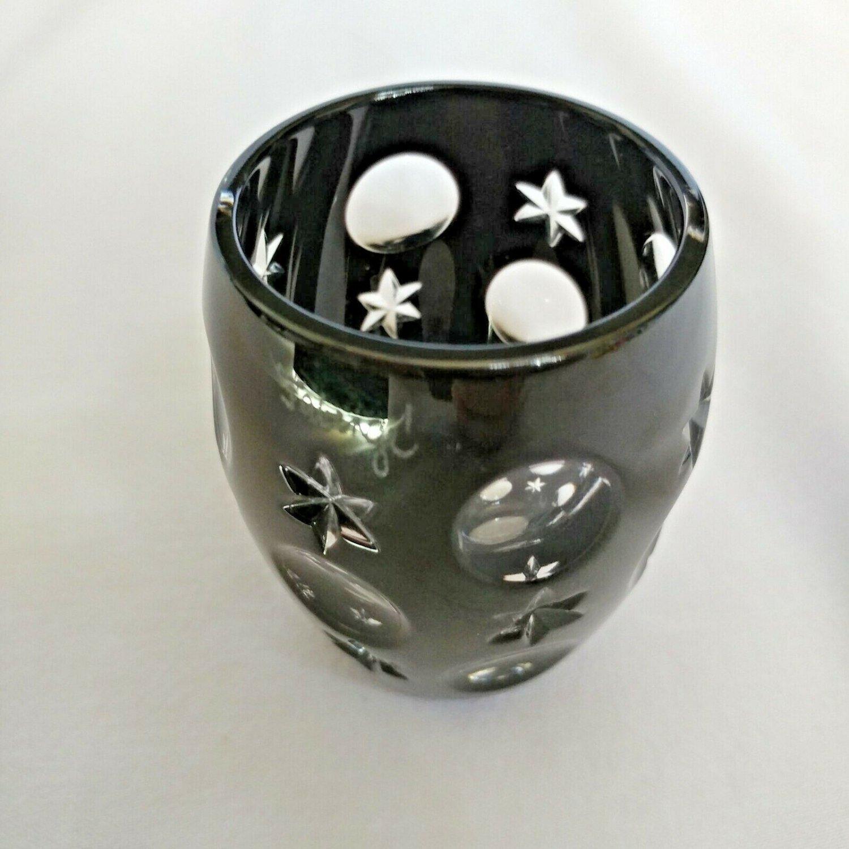 Faberge Black Galaxy Crystal  Shot Glass