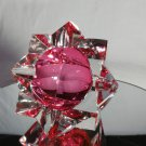 Sommerso Murano | Pink & Clear Star Faceted Glass Ashtray | Italy 1950s