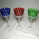 """Faberge Xenia Crystal  Glasses 7 3/8""""  Tall"""