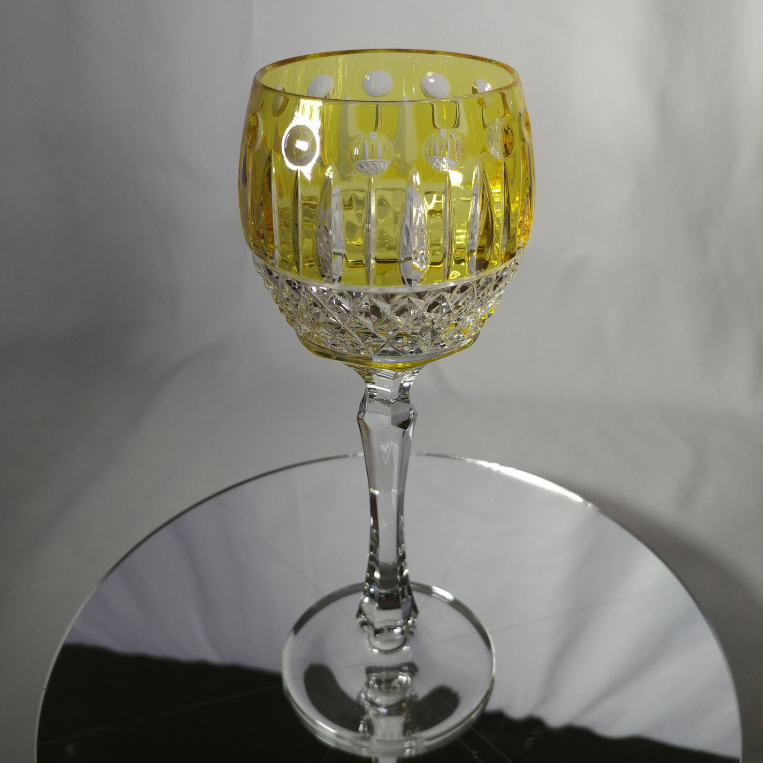 FABERGE   YELLOW XENIA IMPERIAL YELLOW GOLD CRYSTAL GOBLET   SINGLE