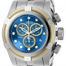INVICTA BOLT MENS QUARTZ STAINLESS STEEL, GOLD CASE BLUE, GOLD DIAL