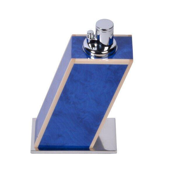Elie Bleu Blue Madrona Table Lighter and Egoist Ashtray