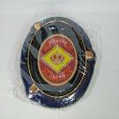 "Diamond Crown  Large Ceramic Ashtray 12"" L x 9"" W"