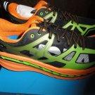 "Hoka One Mens Stinson 3 ATR Shoes 1008326 Bright Green / Persimmon 12.5"""
