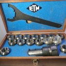 "ER-40 1.1/4 ETM COLLET CHUCK SET 1/8"" -1"" in the original box"