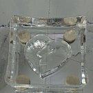 Koasta Boda Art Glss Love Square Days Dish or Candle Tray Crystal Swedish