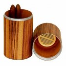 The Cylinder Desk Humidor - Zebrawood