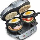 8 sq. in. Gray Dual Breakfast Sandwich Maker