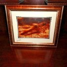 "OpusX signed print 22"" X 18""  brushed gold framed"