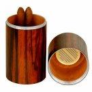 The Cylinder Desk Humidor - Macassar Ebony