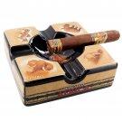 Don Lino Africa 4-Cigar Ceramic Ashtray
