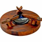 "The ""Deck"" Ashtray Round (Triple) - Rosewood"
