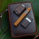 Havana Traveler - Croco Pattern Tobacco
