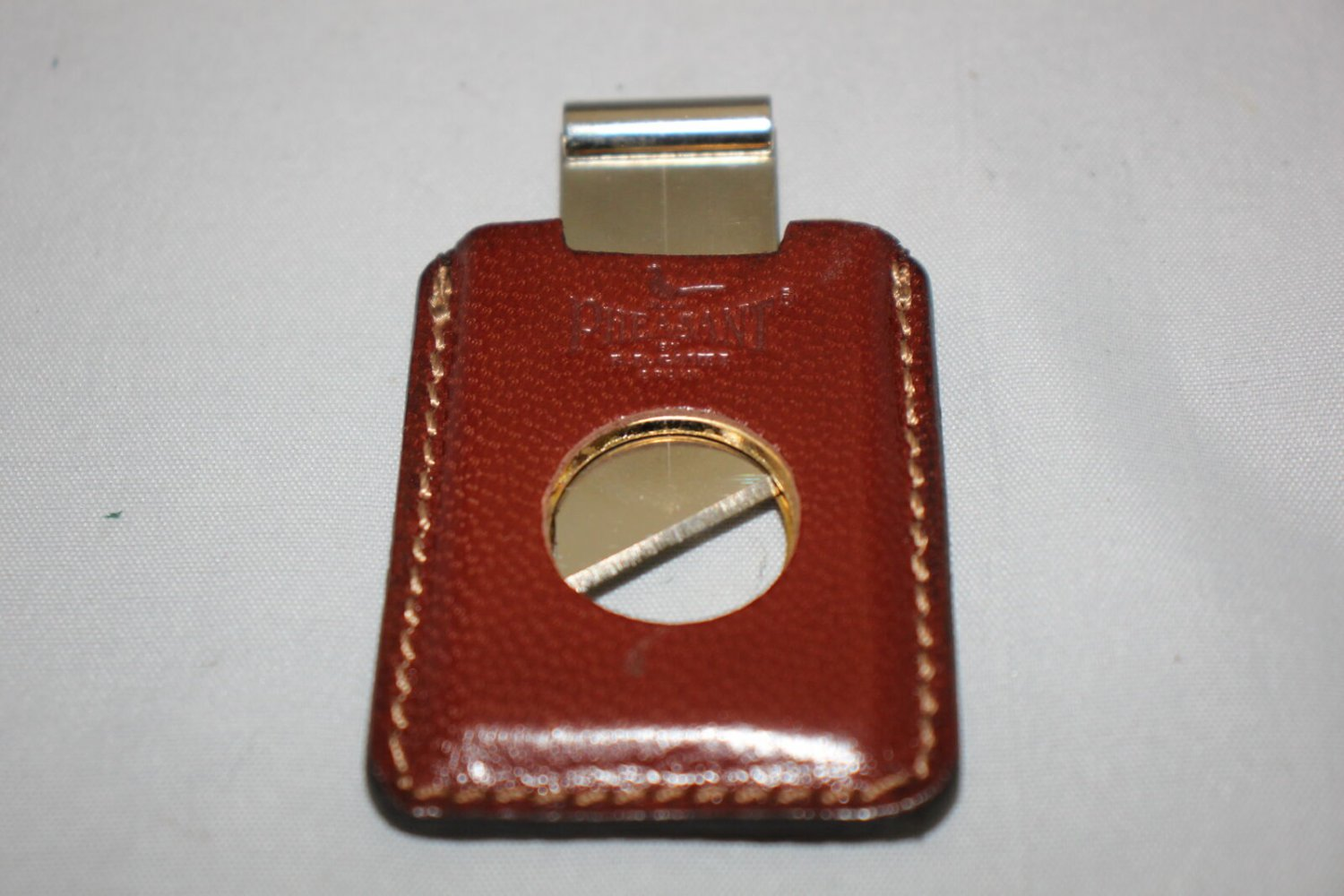 Pheasant by R.D.Gomez Stainless Steel Cigar Cutter Cabra Brown