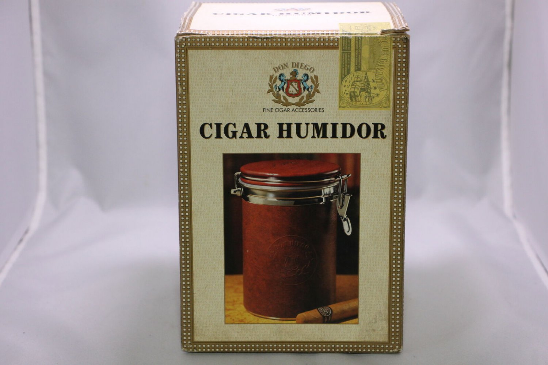 DON DIEGO ROUND CIGAR HUMIDOR