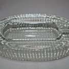 Comoy's of London Clear Crystal Heavy Glass Cigar Pipe Ashtray made in Italy