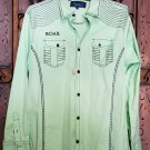Roar Signature Long  Sleeve Button Up Shirt Size Large