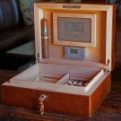 """Bizard and Co - The """"Airflow"""" Cigar Humidor - Antique Saddle Leather 30/40 Count"""