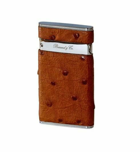 """Bizard and Co. - The """"Sottile"""" Lighter - Ostrich Tan"""