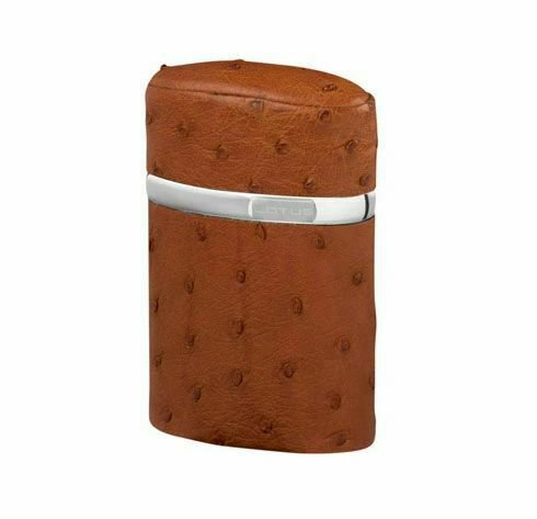 """Bizard and Co. - The """"Triple Jet"""" Table Lighter - Ostrich Tan"""