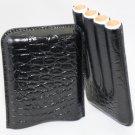 Pheasant by R.D.Gomez Black Leather Case - 4 Cigars