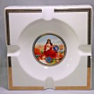 "La Corona Large Ceramic  Collectible Ashtray 9.5"" x 2""  FREE SHIPPING IN USA"