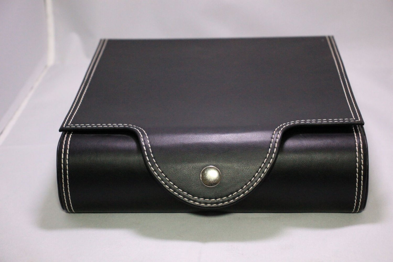 Black Leather Travel Humidor