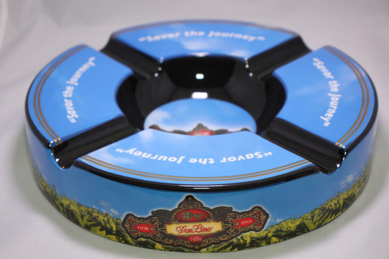"Don Lino Ceramic Ashtray 10"" Diameter in the original box"