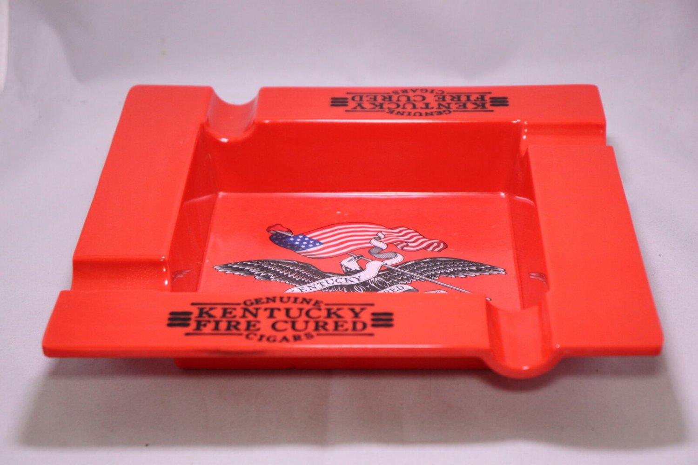 Genuine Kentucky Fire Red Square 4-Finger Ashtray