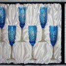FABERGÉ ODESSA SKY BLUE CRYSTAL FLUTES | Set of 6