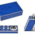 Elie Bleu  Blue Madrona Burl Humidor 75 count , Table Lighter & Egoist Ashtray