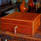 """Brizard and Co- The """"Airflow"""" Cigar Humidor - Antique Saddle Leather 30/40 Count"""