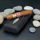 """Brizard and Co. - The """"Show Band"""" 3 Cigar Case - Stingray Black"""