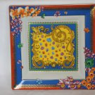 Versace Primavera Colorful Large Square Tray 8.5""