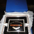 "Elie Bleu ""Medals"" Black Porcelain Ashtray NIB"
