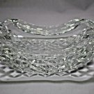 """Waterford Curved Crystal Ashtray - 7"""" L x 4.5"""" W  x 2"""" H Made in Ireland No box"""