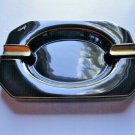 "Davidoff Black Porcelain Ashtray Measures 12"" L x 8.5""W x 1.75"" H"