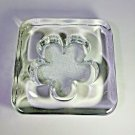 """Rosenthal Heavy Duty Glass Ashtray - Measures  6.5"""" x 6.5"""" X 1.75 """" Weighs 5.8 #"""