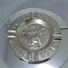 United States Marine Corps Ashtray Made in USA of Solid Alum Chrome Plated