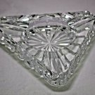 "Heavy Glass Ashtray Measures 7.5""  FREE SHIPPING IN USA"