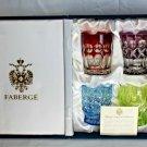 """Faberge Vodka Na Zdorovya Glasses  set of 4 Edition II Measure 2 5/8"""" H"""