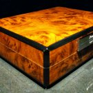 Prometheus Travel Humidor -Burl Wood with carrying case NIB